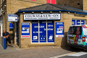 Colway outside shop